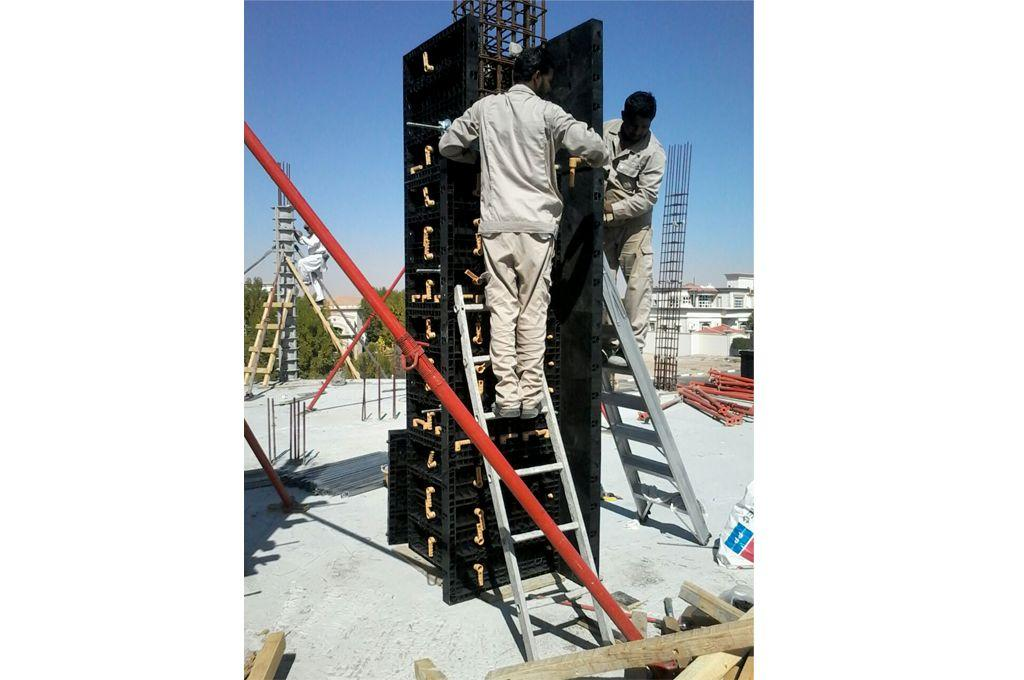 BOFU plastic formwork in UAE for column