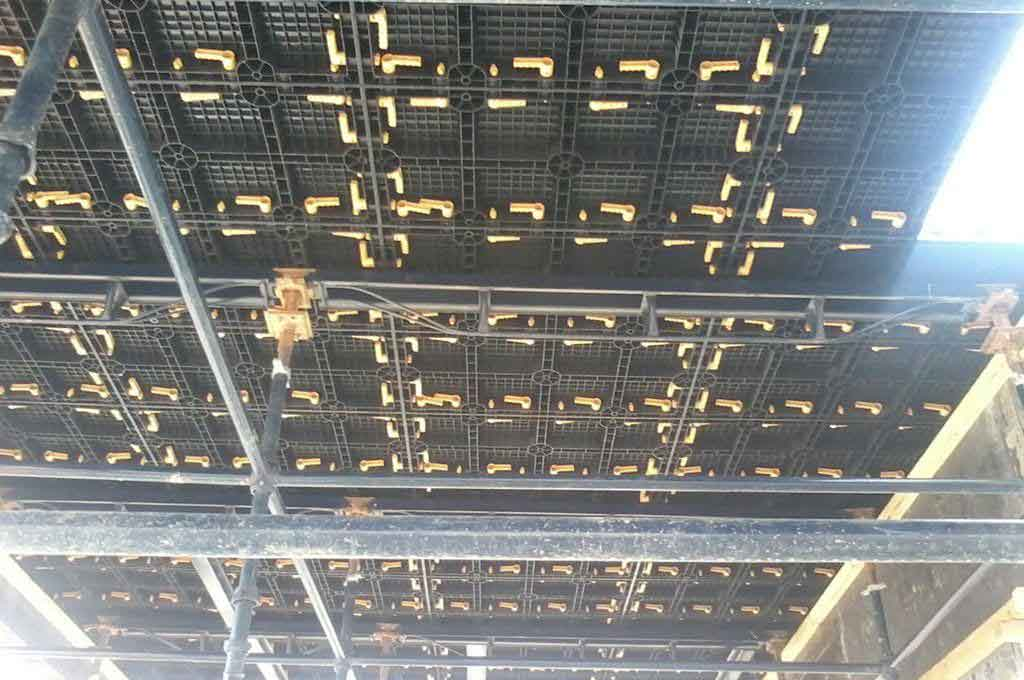 BOFU plastic formwork in UAE for slab