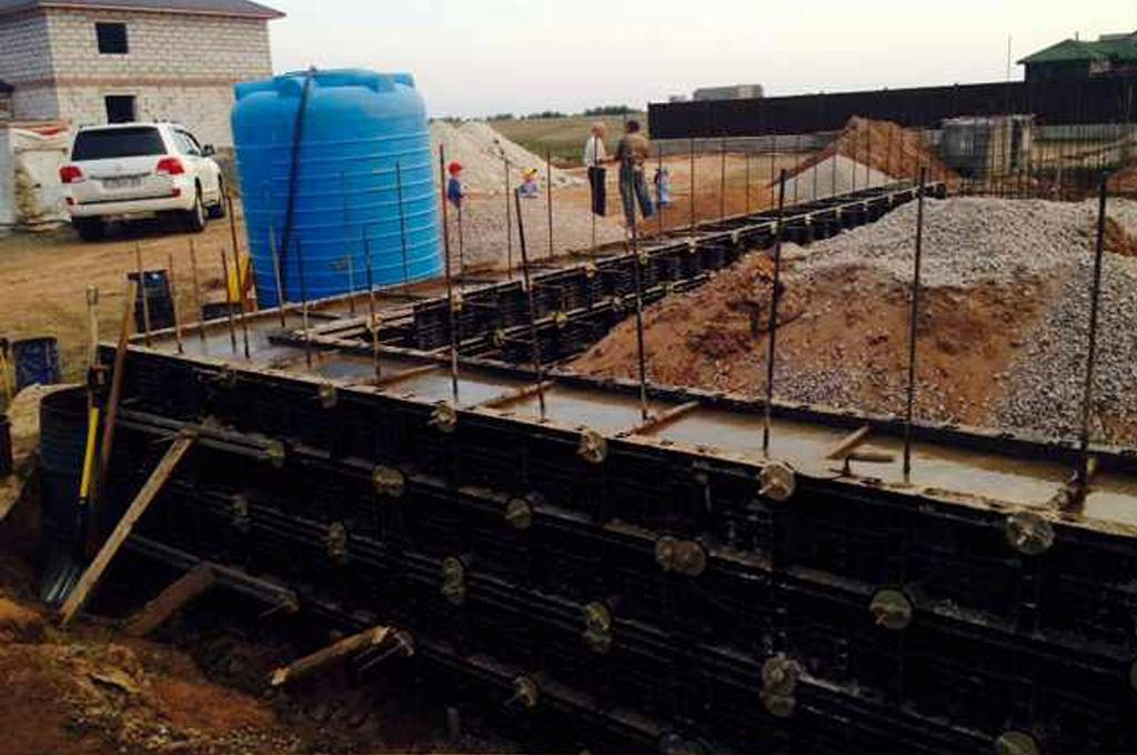 BOFU plastic formwork in kazakhstan for corner wall