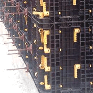 BOFU plastic formwork for walls and corners