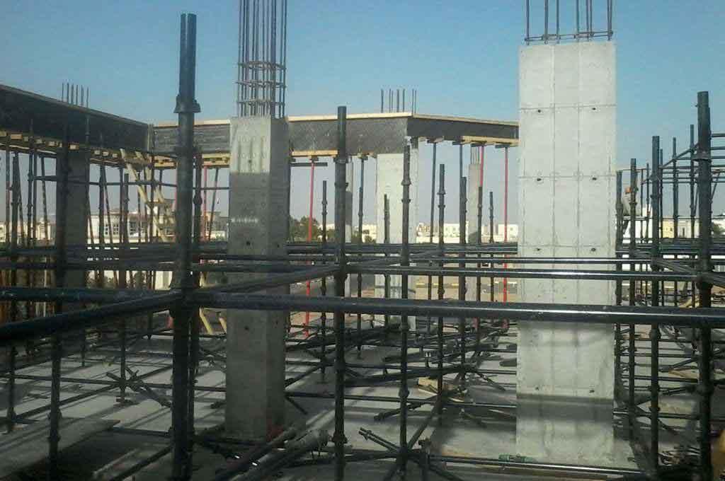 BOFU plastic formwork in UAE for column