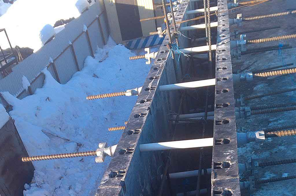 BOFU plastic formwork in Russia for wall