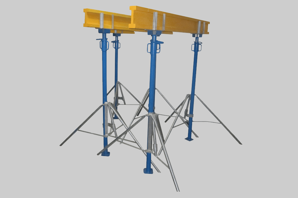 BOFU plastic formwork supporing system