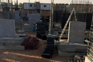 BOFU plastic formwork system for foundation in Saudi Arabia.