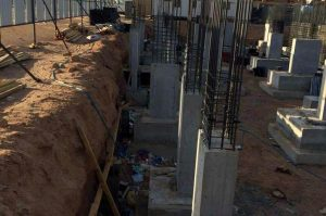 BOFU plastic formwork system for column in Saudi Arabia.