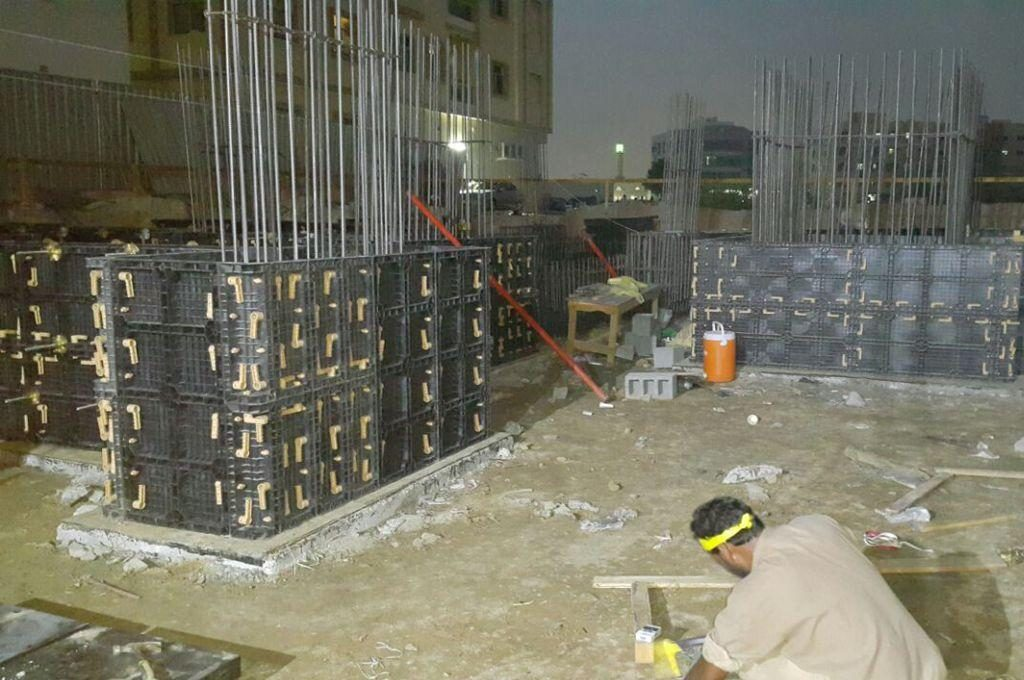 BOFU formwork for foundation