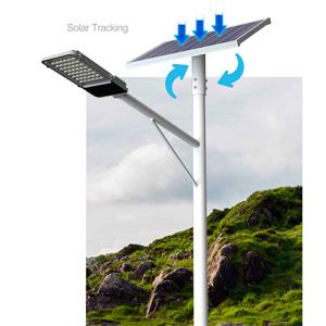 solar tracking street light