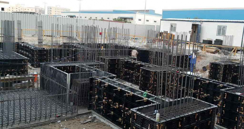 BOFU plastic concrete formwork for construction
