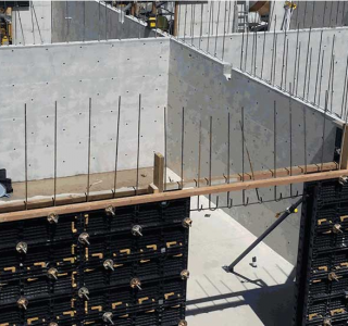 BOFU plastic modular formwork for cross wall