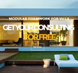 BOFU plastic modular formwork