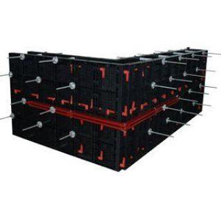 BOFU plastic modular formwork for corner wall