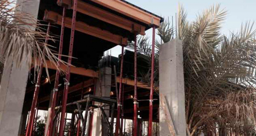 BOFU plastic formwork in saudi Arabia for hotel
